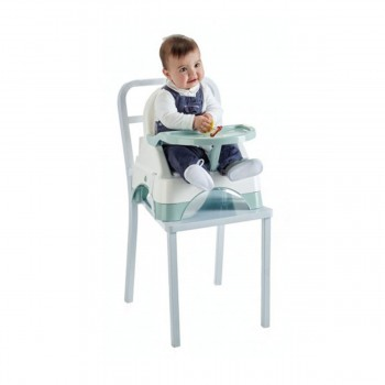 EDGAR BOOSTER SEAT WITH STEP GREEN